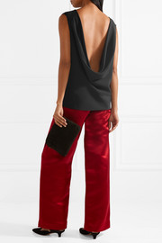 The Row Sandra draped silk-crepe top