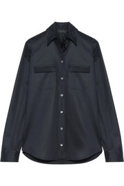 Patrew stretch-cotton poplin shirt