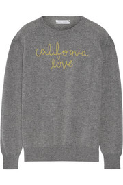 California Love embroidered cashmere sweater