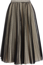 Pleated point d'esprit tulle skirt