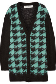 Philosophy di Lorenzo Serafini Houndstooth mohair-blend cardigan