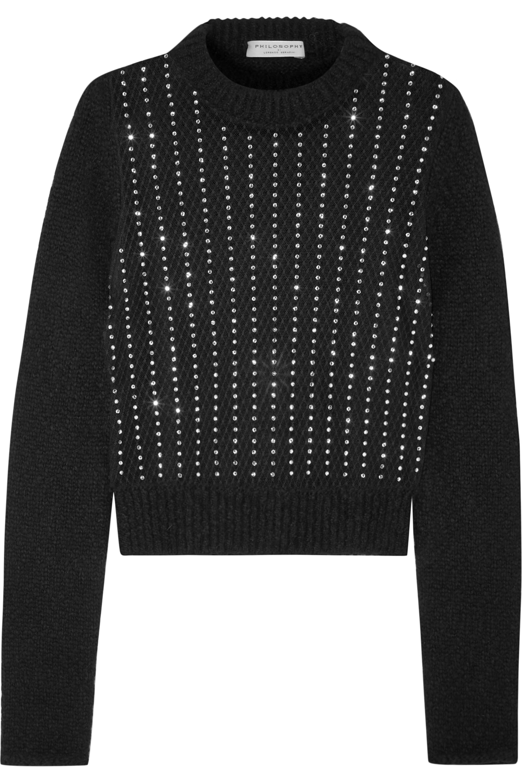 Philosophy di Lorenzo Serafini Embellished lace and knit sweater