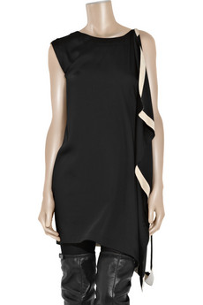 Vionnet Asymmetric%20draped%20satin-crepe%20dress