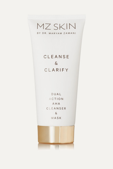 MZ SKIN CLEANSE & CLARIFY DUAL ACTION AHA CLEANSER & MASK, 100ML - COLORLESS