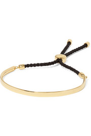 Monica Vinader Fiji gold vermeil and woven bracelet