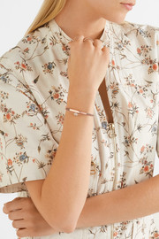 Monica Vinader Linear rose gold vermeil and woven bracelet
