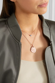 Monica Vinader Nura rose gold vermeil diamond necklace