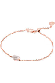 Monica Vinader Rose gold vermeil diamond bracelet