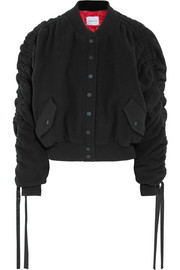 Magda Butrym Clarice wool and cashmere-blend felt bomber jacket