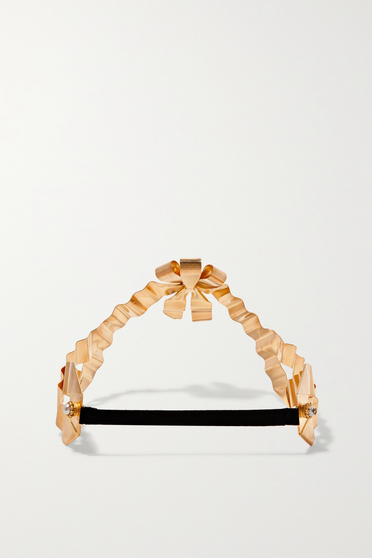 Gucci Bijou de tête en plaqué or et perles synthétiques