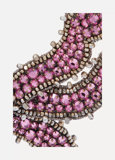 d5b8a9222 Gucci | Crystal, bead and chiffon brooch | NET-A-PORTER.COM