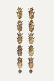 Gucci Gold-tone, faux pearl and enamel earrings