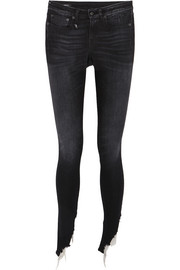 Kate frayed mid-rise skinny jeans