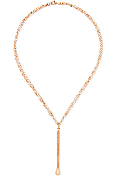 Matchstick 18-karat Rose Gold Necklace - one size Carolina Bucci BD2fely