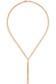 Matchstick 18-karat rose gold necklace