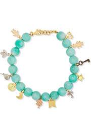 Carolina Bucci Recharmed Lucky 18-karat yellow, rose and white gold and amazonite bracelet