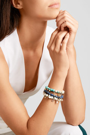 Carolina Bucci Recharmed Lucky 18-karat yellow, rose and white gold and dumortierite bracelet