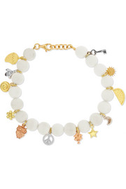 Carolina Bucci Recharmed Lucky 18-karat gold agate bracelet