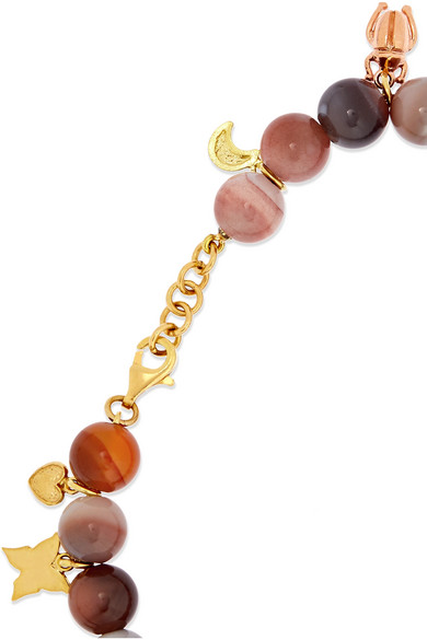 Recharmed Lucky 18-karat Yellow, Rose And White Gold And Agate Bracelet - one size Carolina Bucci