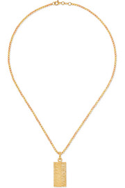 Golden Rule 18-karat yellow and rose gold necklace