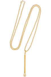 Carolina Bucci Matchstick 18-karat gold necklace