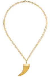 Carolina Bucci Corno 18-karat gold necklace