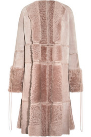 Alexander McQueen Reversible whipstitched leather-trimmed shearling coat