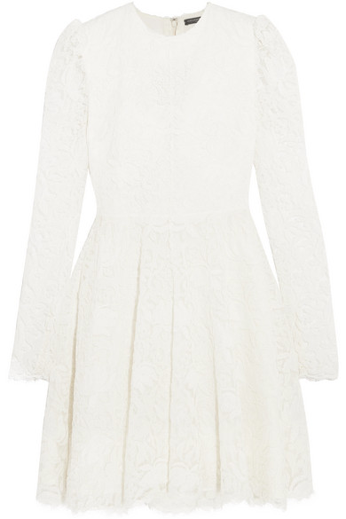 Discount 2018 New Corded Lace Mini Dress - Ivory Alexander McQueen Outlet Store Sale Online Outlet Locations For Sale With Credit Card oPsDAjt9n