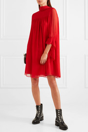 Alexander McQueen Silk-crepon mini dress
