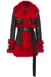 Alexander McQueen Shearling-lined leather jacket