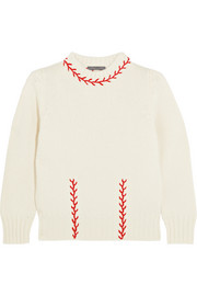 Alexander McQueen Embroidered cashmere sweater