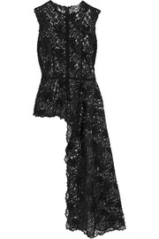 Alexander McQueen Asymmetric corded lace top