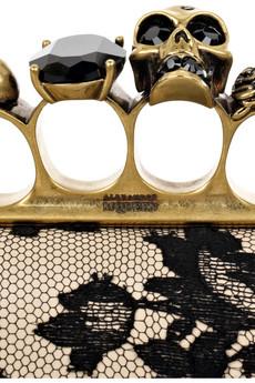 Alexander McQueen Knuckle Duster box clutch