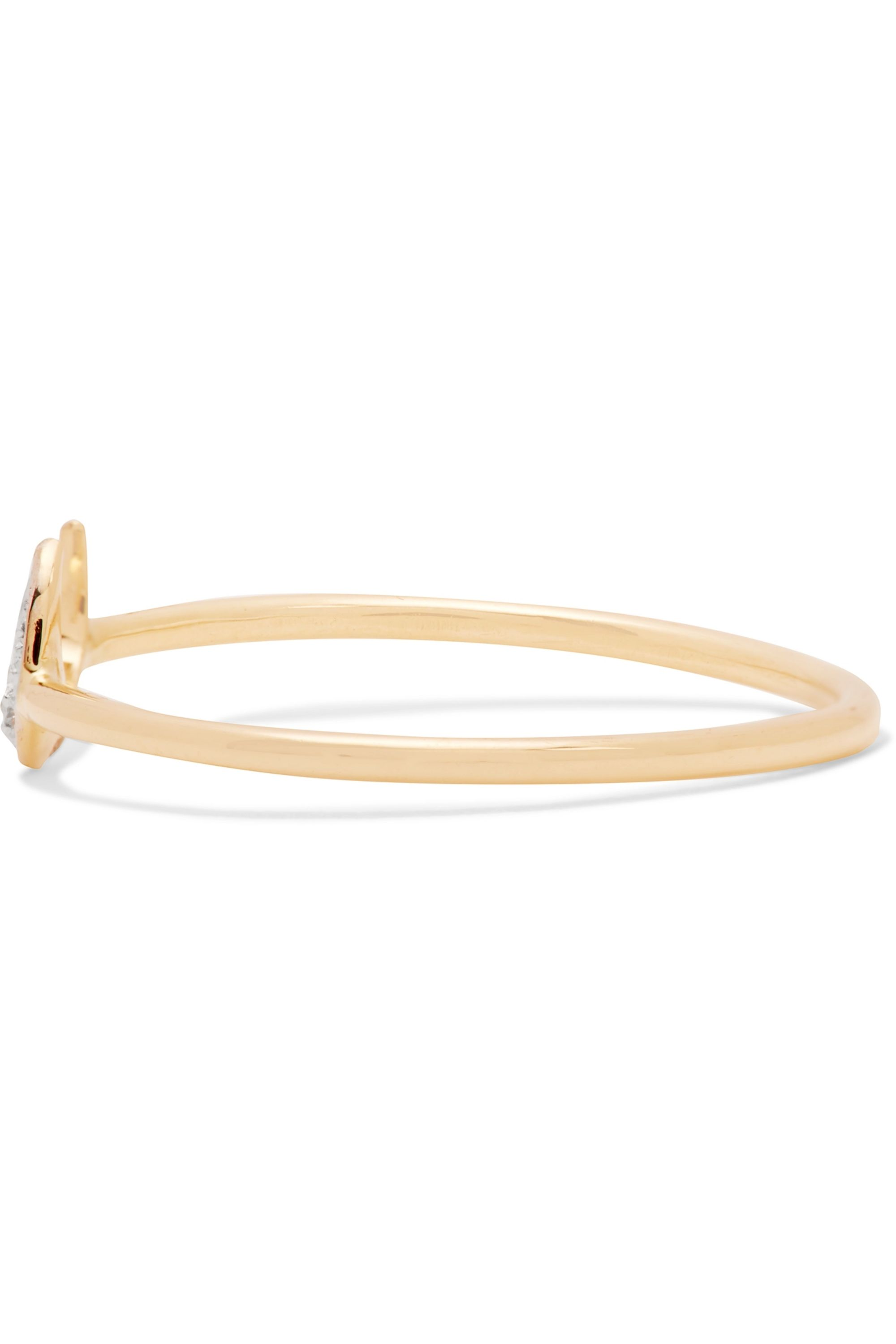 I+I 14-karat gold diamond ring