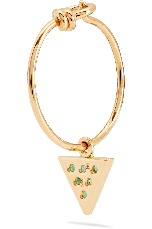 I+I 14-karat gold emerald earrings