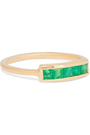 14-karat gold emerald pinky ring