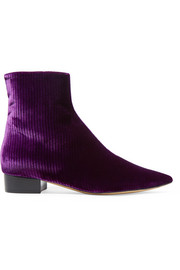 Corduroy ankle boots
