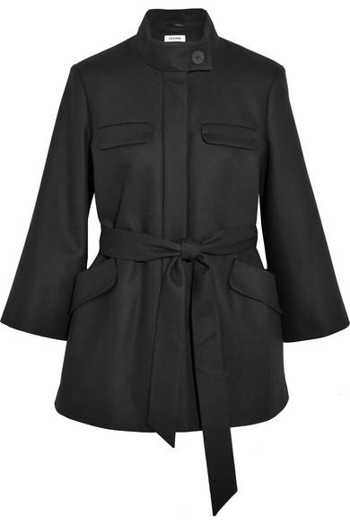 Cefinn - Belted Wool-blend Coat - Black
