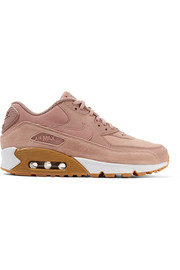 Nike Air Max 90 suede-trimmed leather sneakers