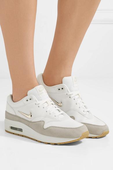 Nike Air Max 1 Premium Sneakers aus Leder mit Velourslederbesatz
