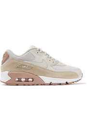 Air Max 90 suede-trimmed leather sneakers