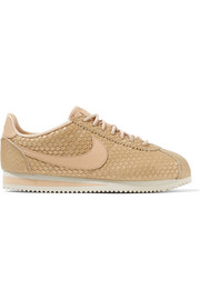 Cortez SE metallic lizard-effect faux leather sneakers