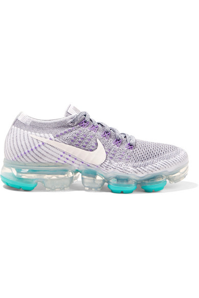 WOMEN'S AIR VAPORMAX FLYKNIT RUNNING SHOES, GREY