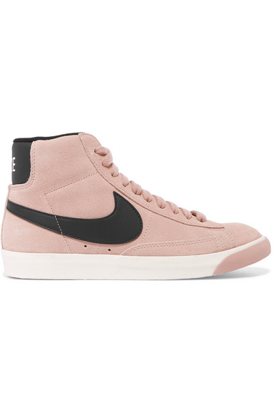 Nike | Vintage Blazer leather-trimmed suede high-top sneakers |  NET-A-PORTER.COM