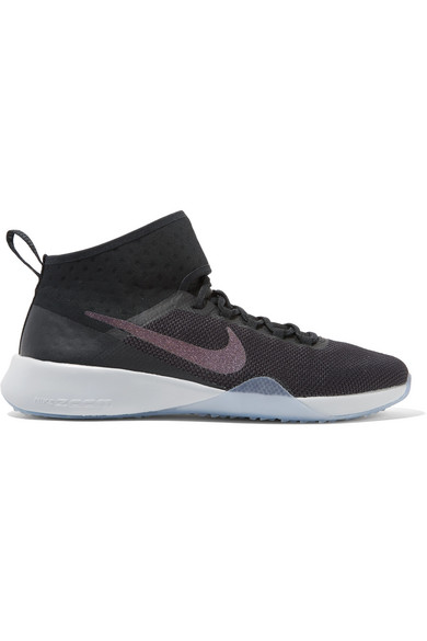 b2d85290be8d NIKE Air Zoom Strong 2 Metallic Mesh And Rubber Sneakers