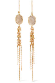 Brooke Gregson Waterfall 18-karat gold diamond earrings