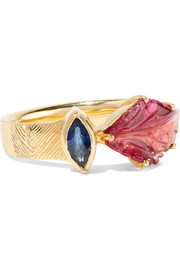 Maya 18-karat gold, tourmaline and sapphire ring