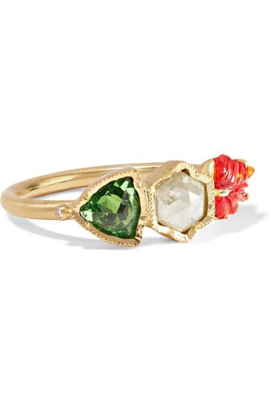 Brooke Gregson - Maya 18-karat Gold Multi-stone Ring