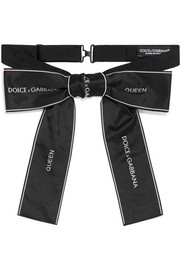 Dolce & Gabbana Embroidered twill bow tie