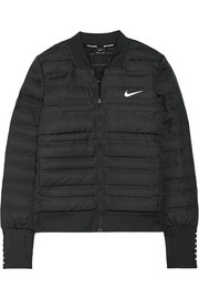 AeroLoft perforated quilted Dri-FIT shell and stretch-jersey down jacket